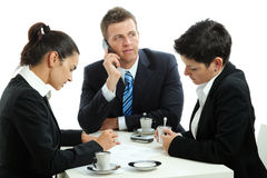 Businesspeople drinking coffee Stock Photo