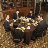 Businesspeople eating.