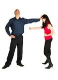 Businesspeople fighting royalty free stock image