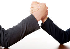 Businesspeople fighting on hands Stock Photos