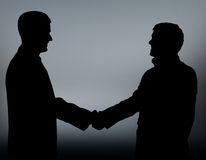 Businesspeople figures. Handshake. Royalty Free Stock Photo
