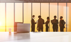 Businesspeople figures, teamwork concept royalty free stock image