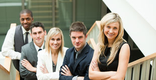 Businesspeople with folded arms Royalty Free Stock Image
