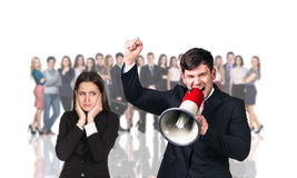 Businesspeople foreground on the blurred people Royalty Free Stock Photo