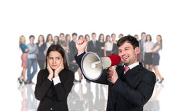 Businesspeople foreground on the blurred people Stock Photography