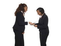 Businesspeople - gespreksvorm royalty-vrije stock foto
