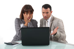 Businesspeople Getting Bad News. Stock Photography