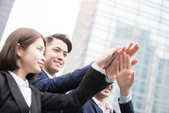 Businesspeople give five Royalty Free Stock Photo