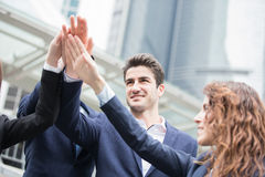 Businesspeople give five Royalty Free Stock Photography