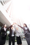 Businesspeople give five Stock Photography