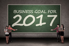 Businesspeople and goal for 2017 Royalty Free Stock Image