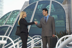 Businesspeople Greeting Each Other Royalty Free Stock Photo