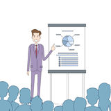Businesspeople Group Conference Meeting Financial Graph Business Man Speaker Royalty Free Stock Images