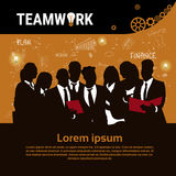 Businesspeople Group Team Brainstorm Teamwork Business Plan Strategy Concept Startup Development Banner. Vector Illustration Royalty Free Stock Image