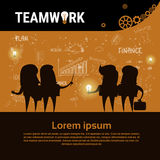 Businesspeople Group Team Brainstorm Teamwork Business Plan Strategy Concept Startup Development Banner Stock Image