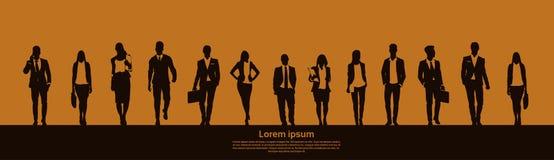 Businesspeople Group Team Teamwork Business Plan Concept Startup Development Banner. Vector Illustration royalty free illustration