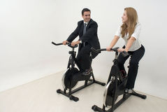 Businesspeople at the Gym - Horizontal Stock Image