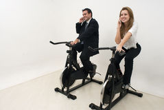 Businesspeople at the Gym - Horizontal Royalty Free Stock Photos