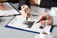 Businesspeople hands Stock Images