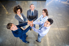 Businesspeople hands stacked over each other Royalty Free Stock Image