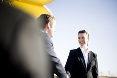 Businesspeople handshake Royalty Free Stock Image