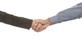 Businesspeople - handshake Royalty Free Stock Photo