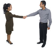 Businesspeople - handshake Stock Photography