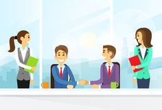 Businesspeople Handshake, Colleagues Shaking Hands Stock Images