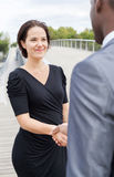 Businesspeople handshaking Royalty Free Stock Image