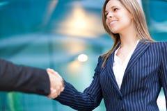 Businesspeople handshaking Royalty Free Stock Photo