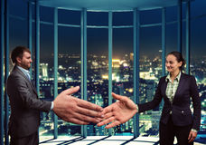 Businesspeople handshaking Royalty Free Stock Images
