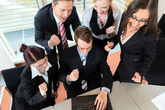 Businesspeople have team meeting in office. Business - businesspeople have team meeting in an office with laptop, it is a very good team royalty free stock images