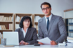 The businesspeople having business discussion in office Stock Images
