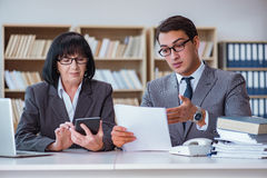 The businesspeople having business discussion in office Royalty Free Stock Photos