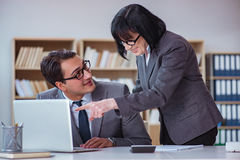 The businesspeople having business discussion in office Royalty Free Stock Image