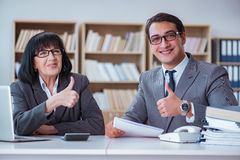The businesspeople having business discussion in office Stock Photos