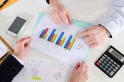 Businesspeople having a discussion about  financial report Royalty Free Stock Photography