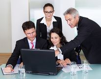 Businesspeople having a discussion Royalty Free Stock Photography