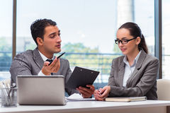 The businesspeople having discussion in the office Royalty Free Stock Photography