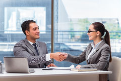 The businesspeople having discussion in the office. Businesspeople having discussion in the office Royalty Free Stock Photography