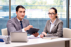 The businesspeople having discussion in the office Royalty Free Stock Image