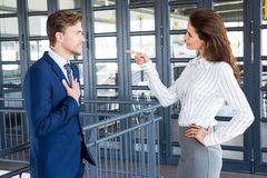 Businesspeople having a discussion in office Stock Images