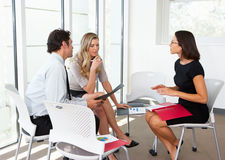 Businesspeople Having Informal Meeting royalty free stock photography