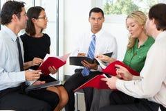 Businesspeople Having Informal Meeting Royalty Free Stock Photos