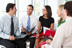 Businesspeople Having Informal Meeting Royalty Free Stock Photos