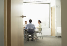 Businesspeople Having A Meeting In Boardroom Stock Images