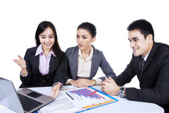 Businesspeople having a meeting Royalty Free Stock Images