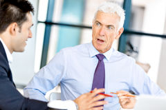 Businesspeople having meeting Royalty Free Stock Photo