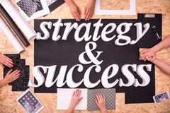 Businesspeople having strategy for success Royalty Free Stock Photography