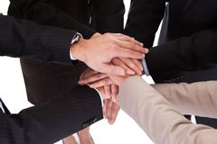 Businesspeople holding hands - teamwork Stock Images